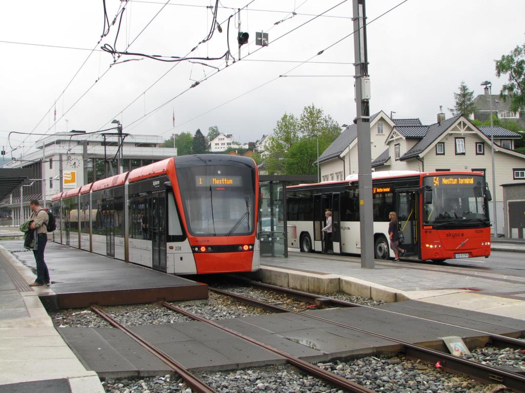 Vaihtopysäkki raitiotiejärjestelmässä (Bergen)